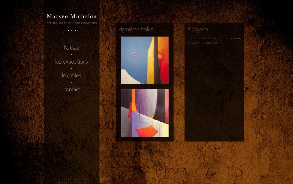 Création site internet artiste peintre