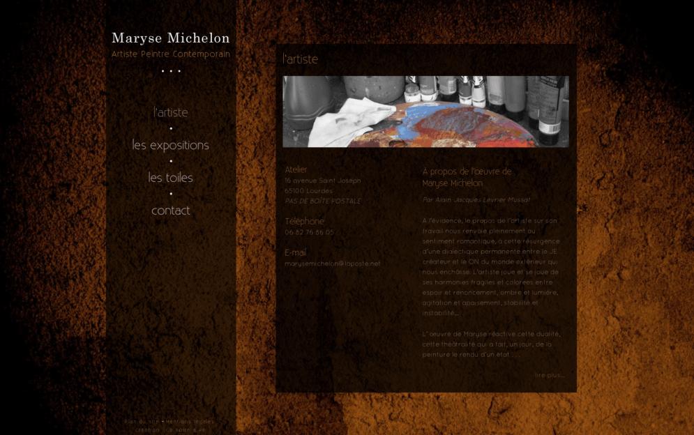 Création site internet Maryse Michelon