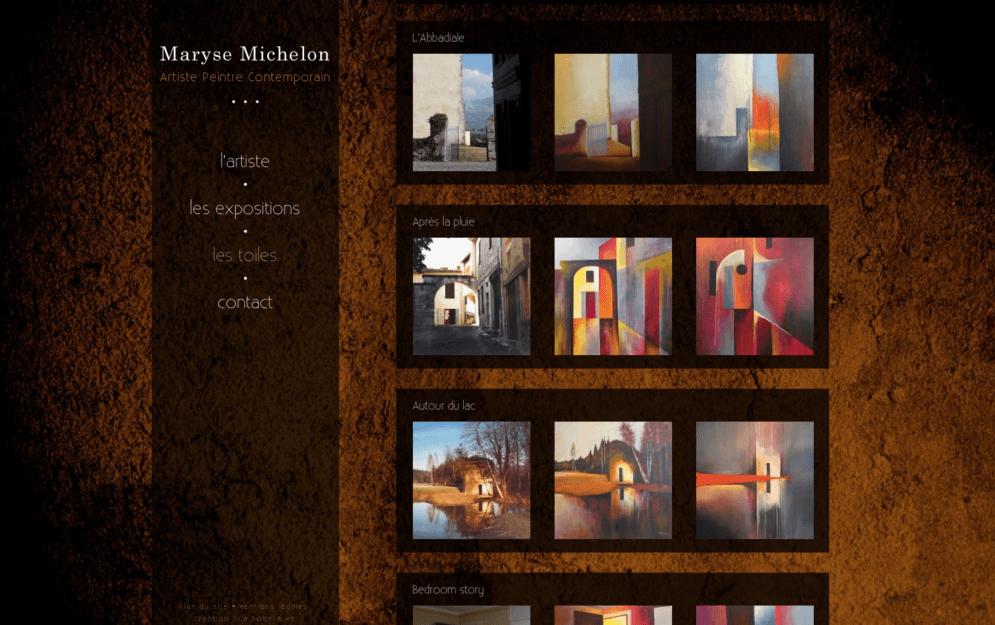 Création site internet peintre