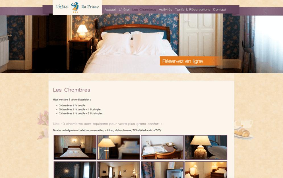 Conception site internet hôtel dans le Gers