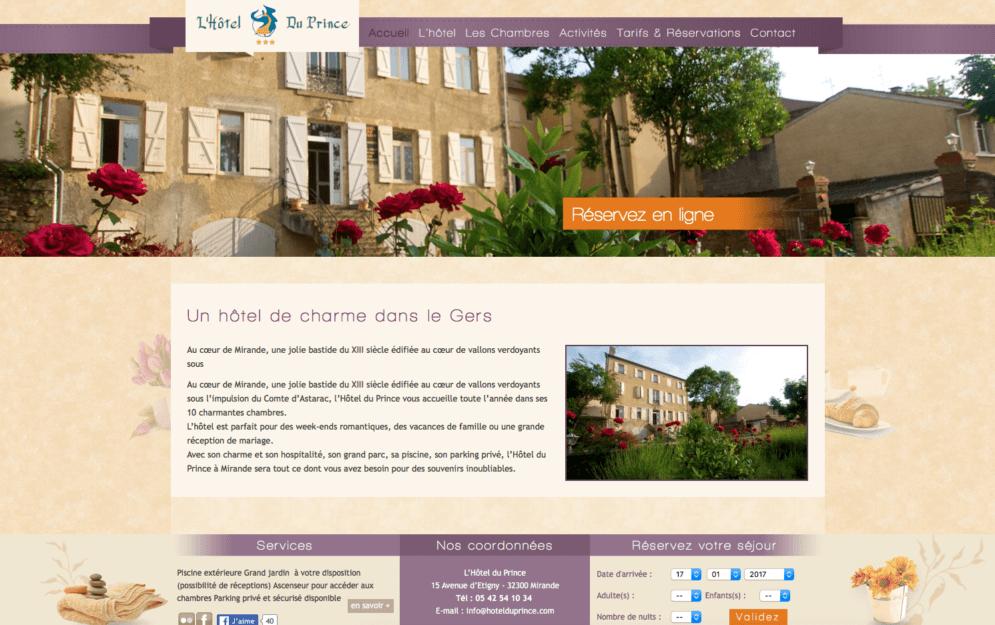 Création site internet hôtel
