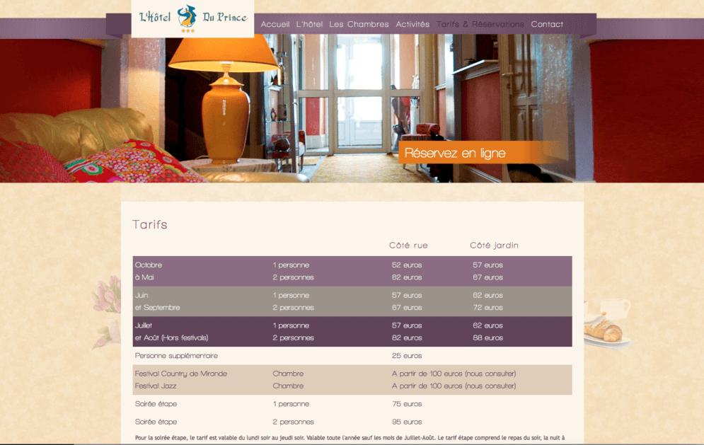 Création site internet hôtellerie