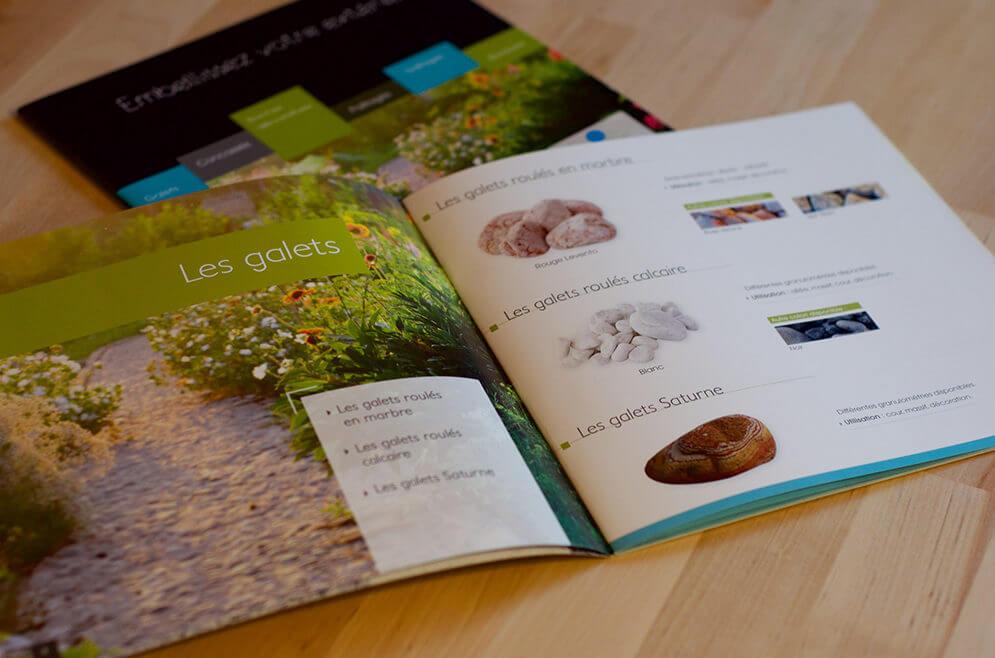 Conception brochure aménagement jardin