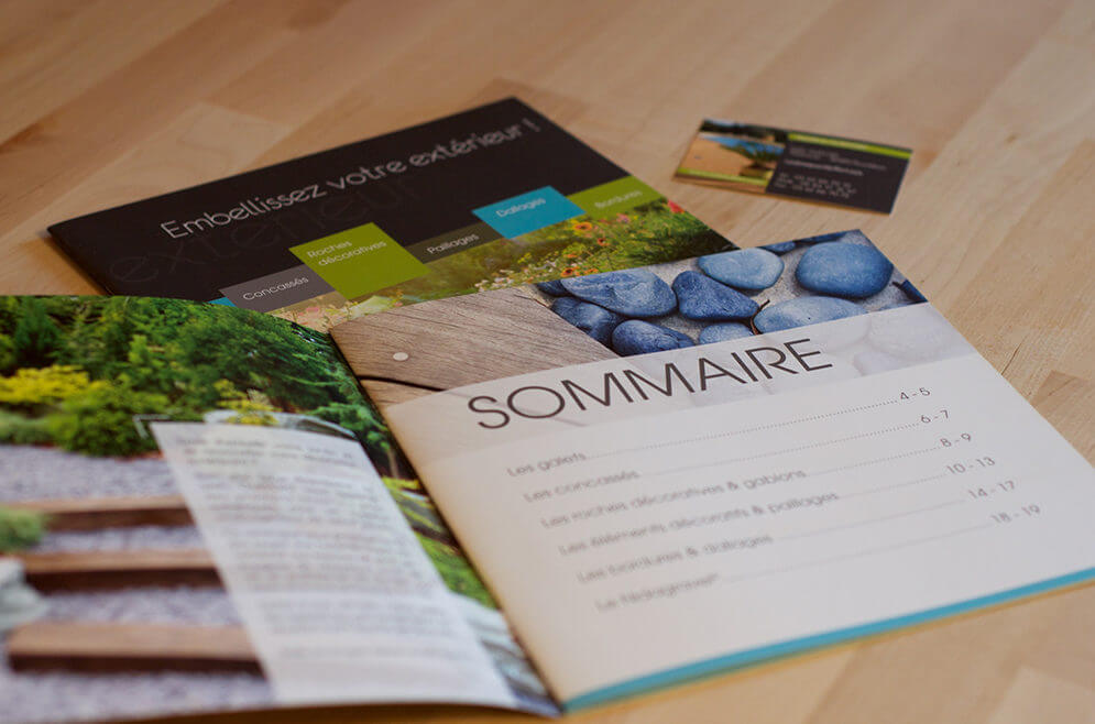 Création catalogue jardin
