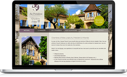 Illustration site internet WordPress pour chambres d'hôtes