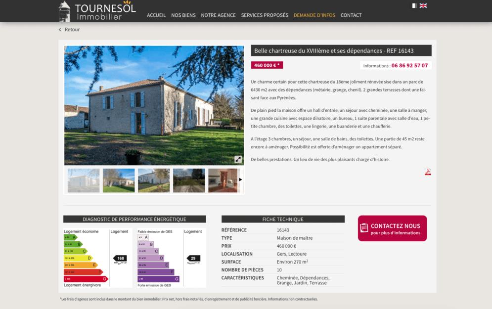 Agence immobilière dans le Gers