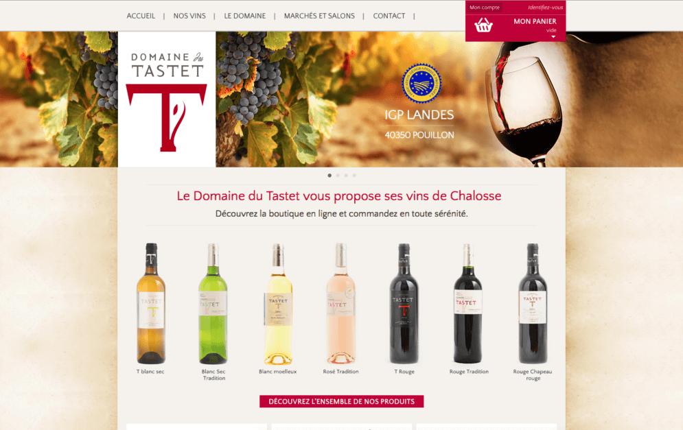 Création du site pour des viticulteurs dans les Landes