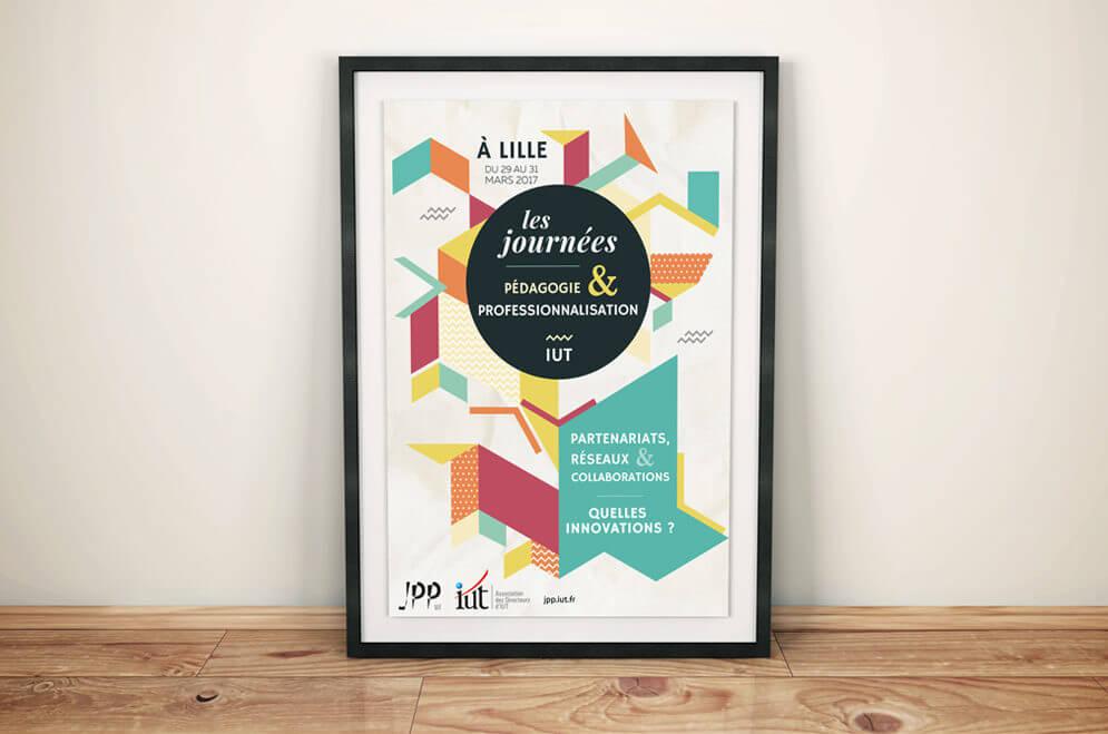 Création d'une affiche pour IUT de Lille