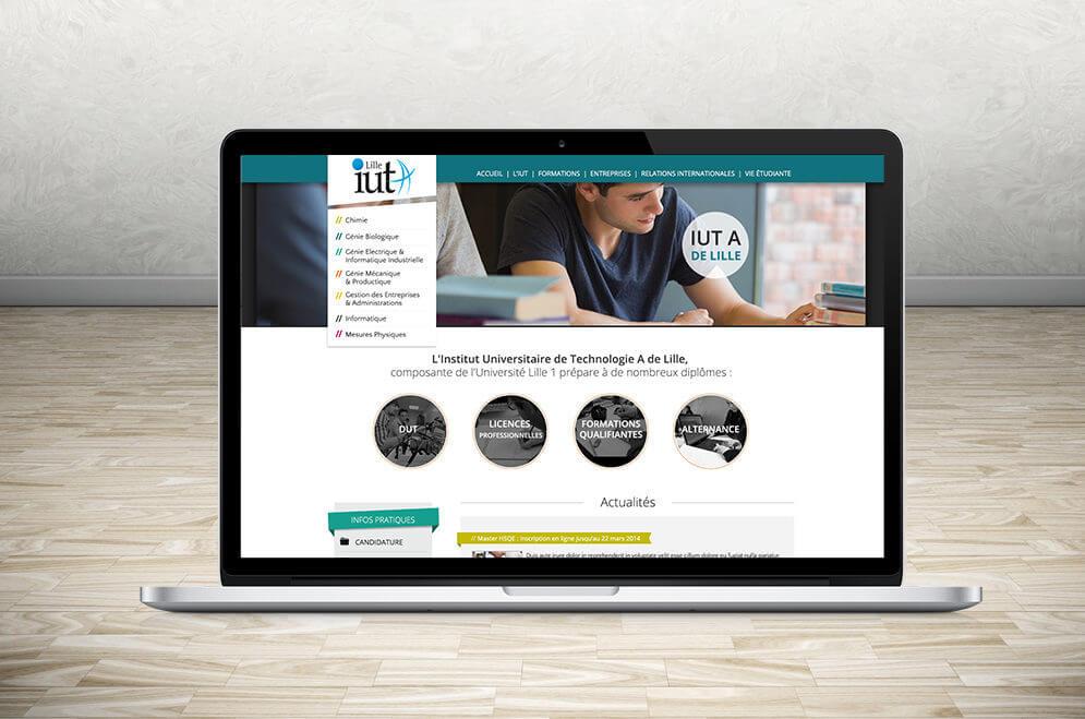Création maquette graphique du site internet de l'IUT de Lille