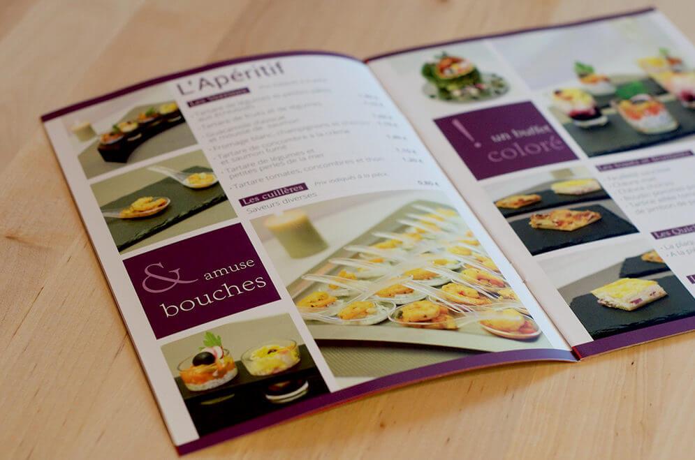 Création brochure menu traiteur