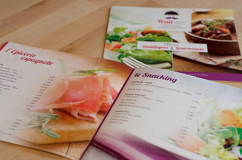 Création carte menu snack