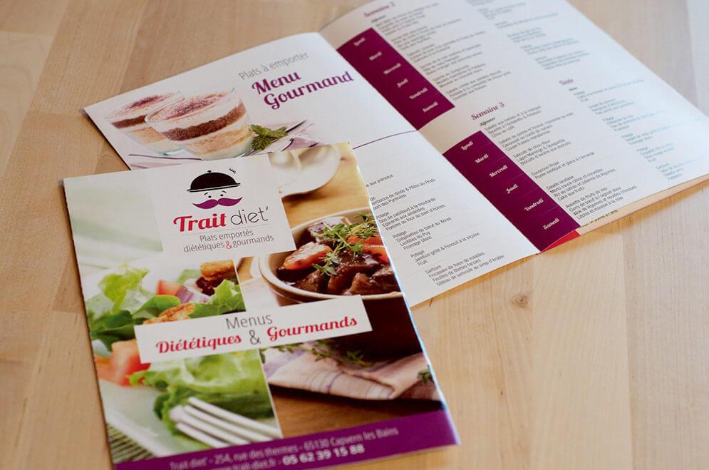 Création dépliant menu traiteur dans le 65