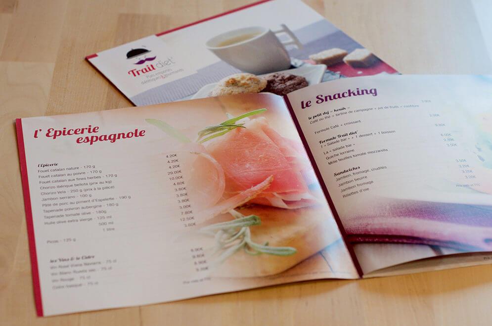 Création dépliant restaurant à Capvern les Bains