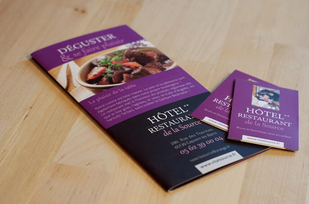 Création brochure hôtel restaurant