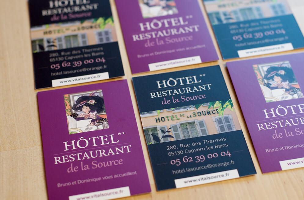 Création carte visite hôtel restaurant