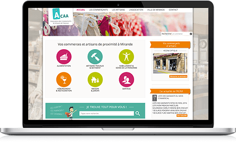 Création site portail pour commerçant d'une ville du Gers