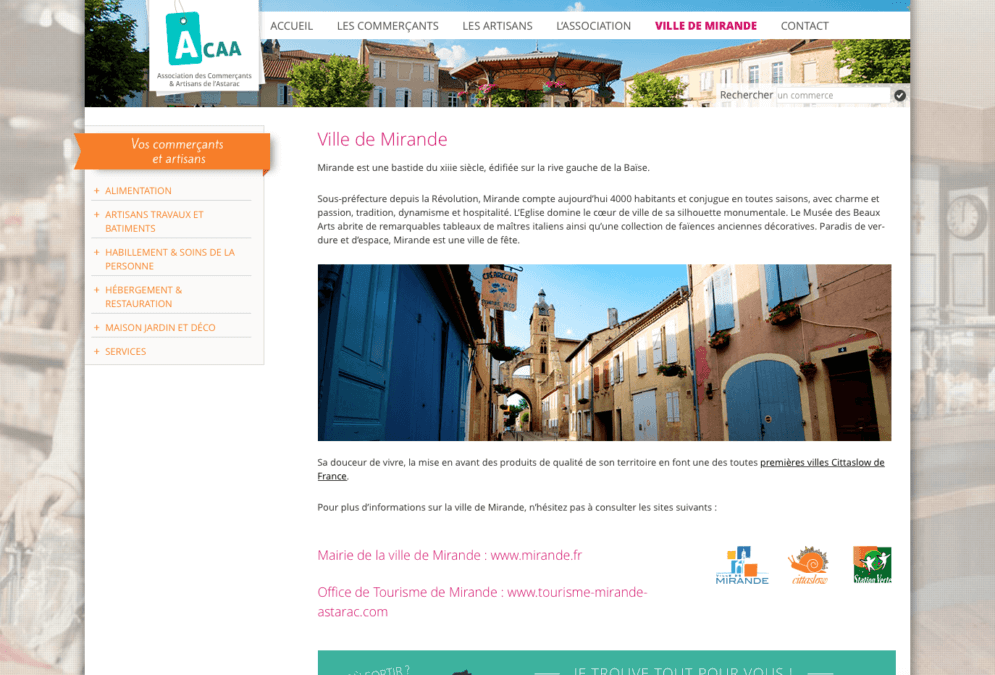Association de commerçants de Mirande : Acaa