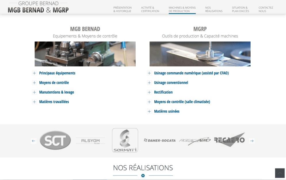 Création site internet groupe Bernad à Bazet (65)
