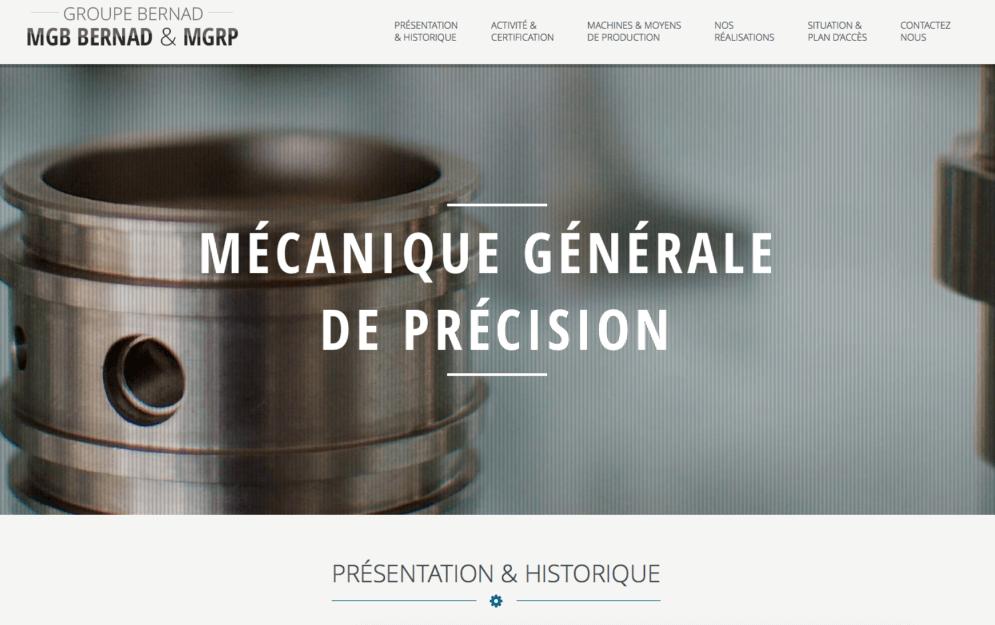 Création site internet mécanique de precision dans le 65