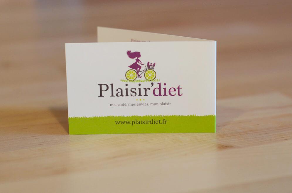 Création carte de visite diététicien