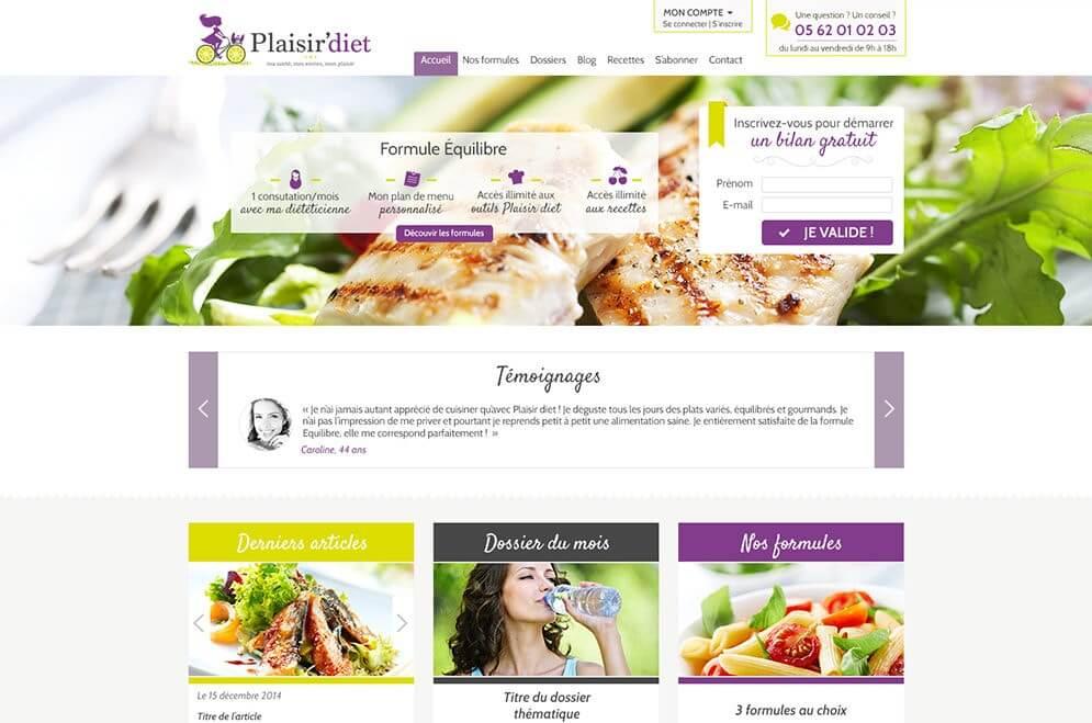 Création maquette graphique site internet diététitien