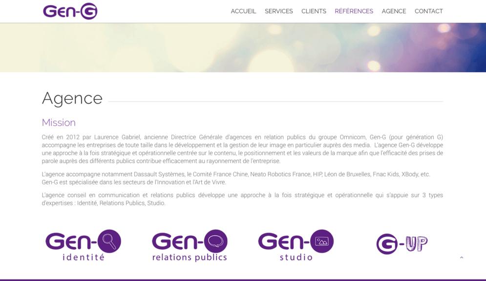 Conception site internet agence relations publics
