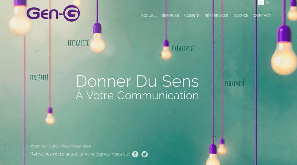 Création site internet pour agence relations publiques