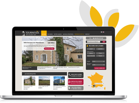 Conception Graphique site agence immobilière