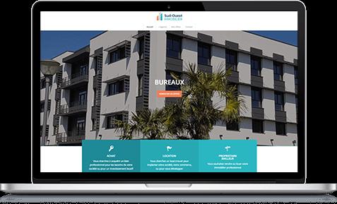 Création du site internet de l'agence immobilière à Pau