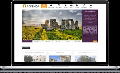 Illustration du site Addenda