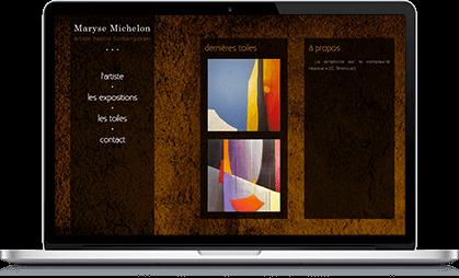 Création site internet WordPress pour artiste peintre