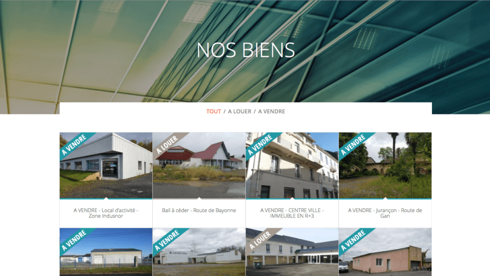 Page nos biens: Agence Sud-Ouest Immobilier