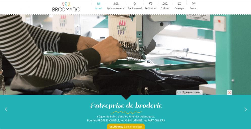 Site pour entreprises de broderie dans les Pyrénées-Atlantiques