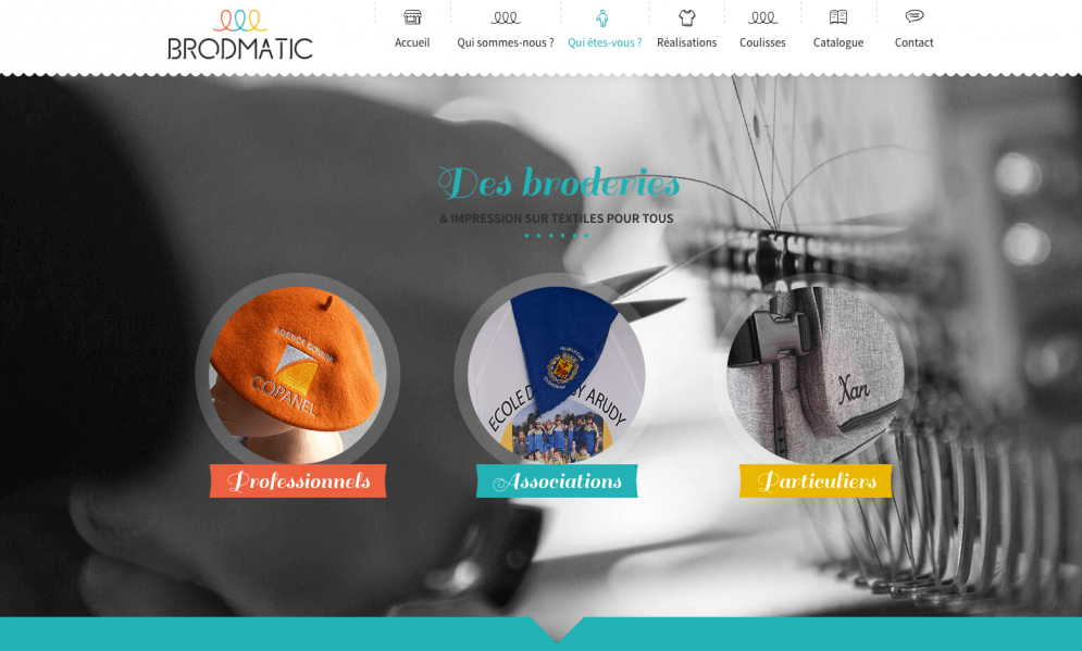 Brodmatic : broderies pour pro, asso et particuliers