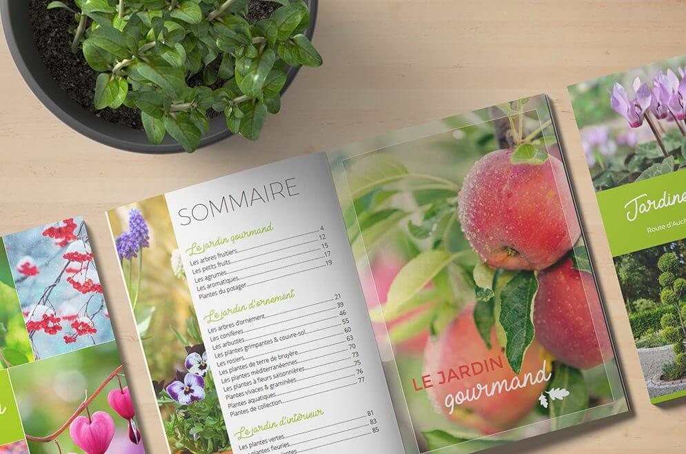 Illustration catalogue jardinerie