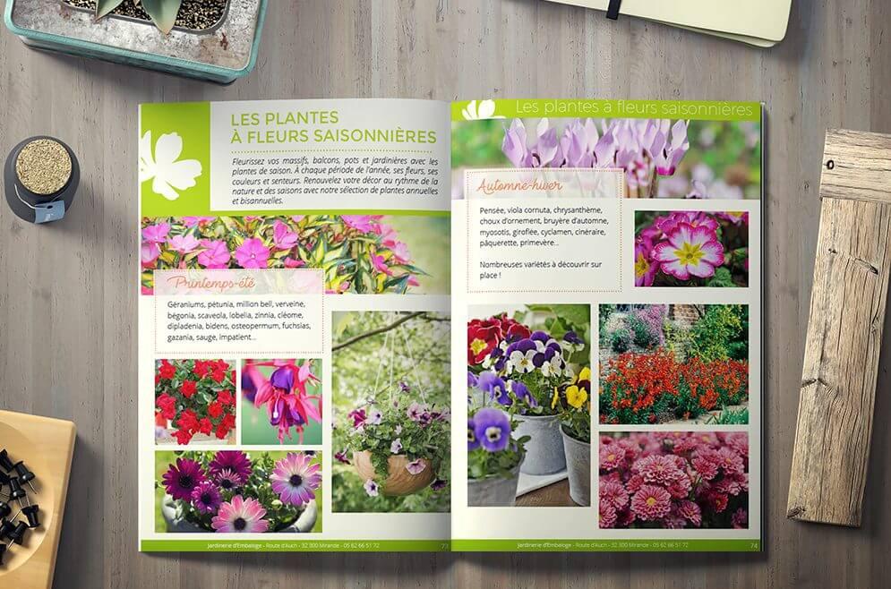 Graphisme pour catalogues natures / plantes