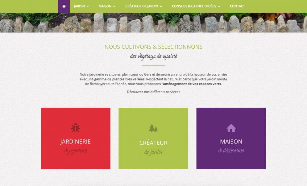 Un site internet coloré pour un pépinière Gersoise