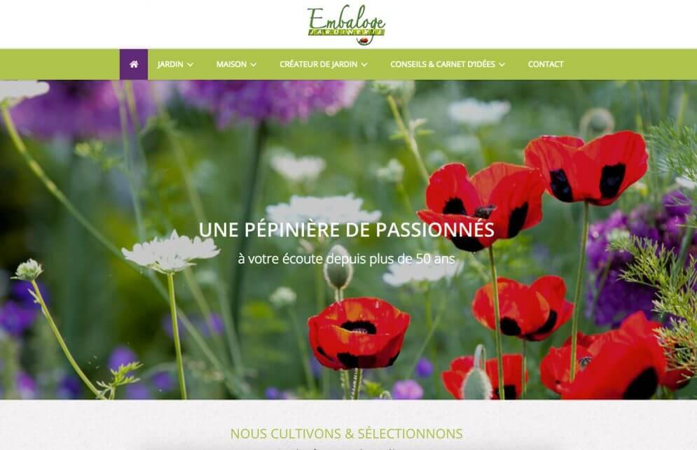 Landing Page WordPress pour Jardinerie d'Embaloge