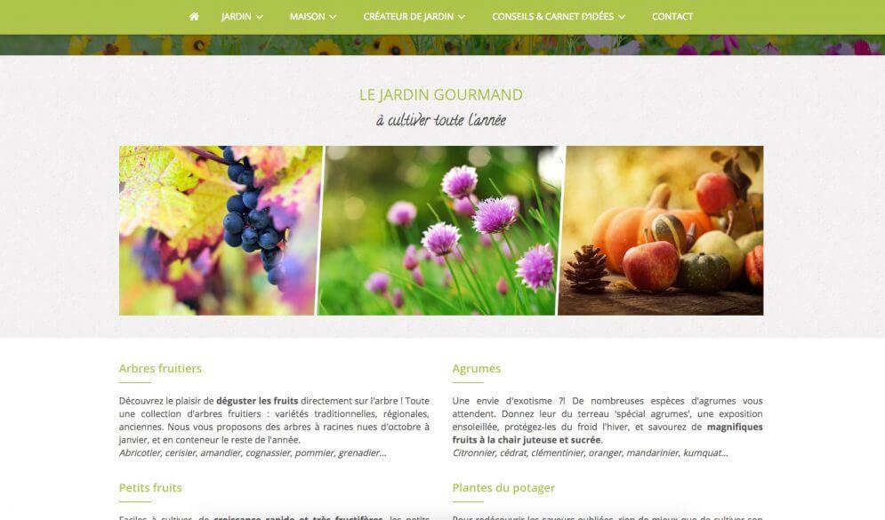 Création site internet Pépinières d'Embaloge, Mirande, Gers
