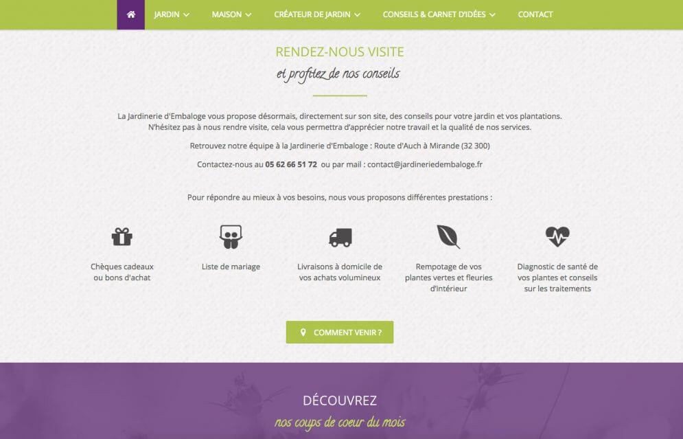 Création site internet pour Jardinerie