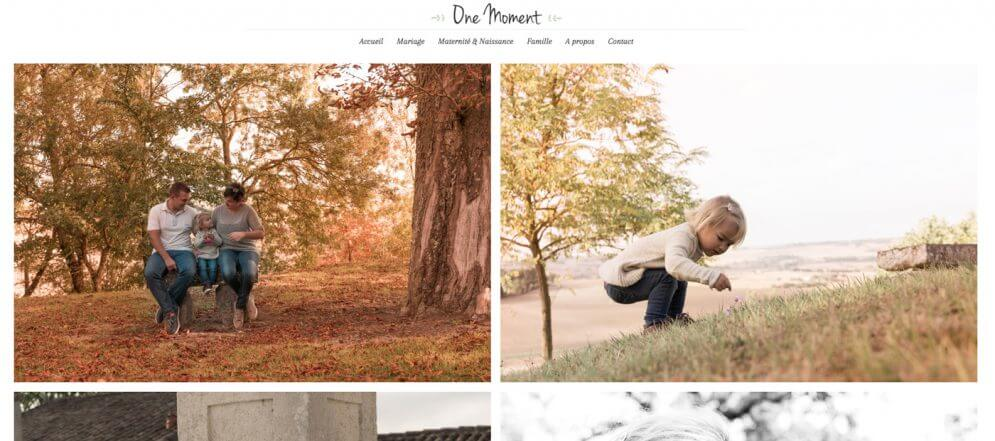 One Moment : Site WordPress pour photographe - Gers
