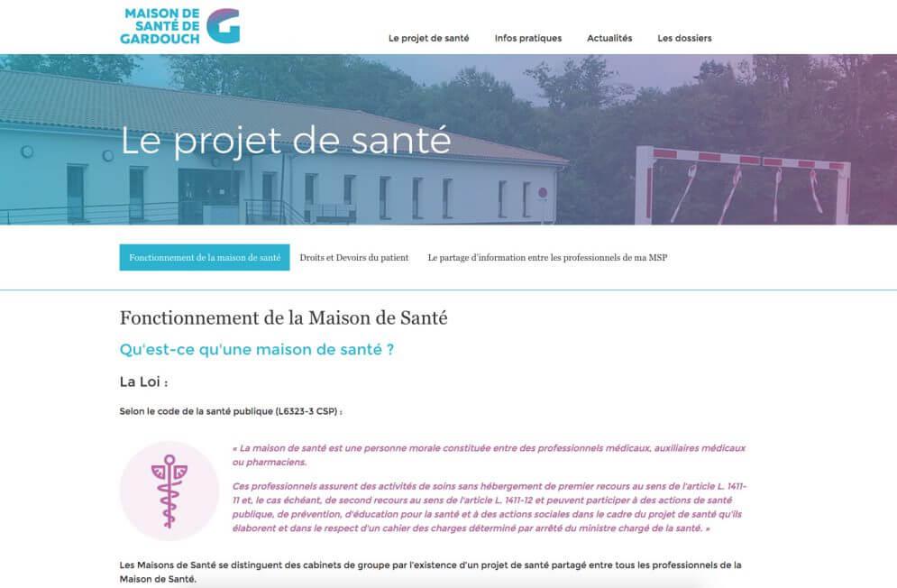Création site internet Maison de Santé