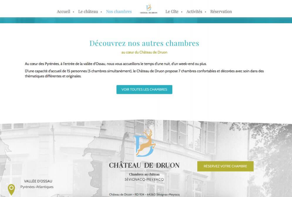 Site internet des Chambres d'Hôtes