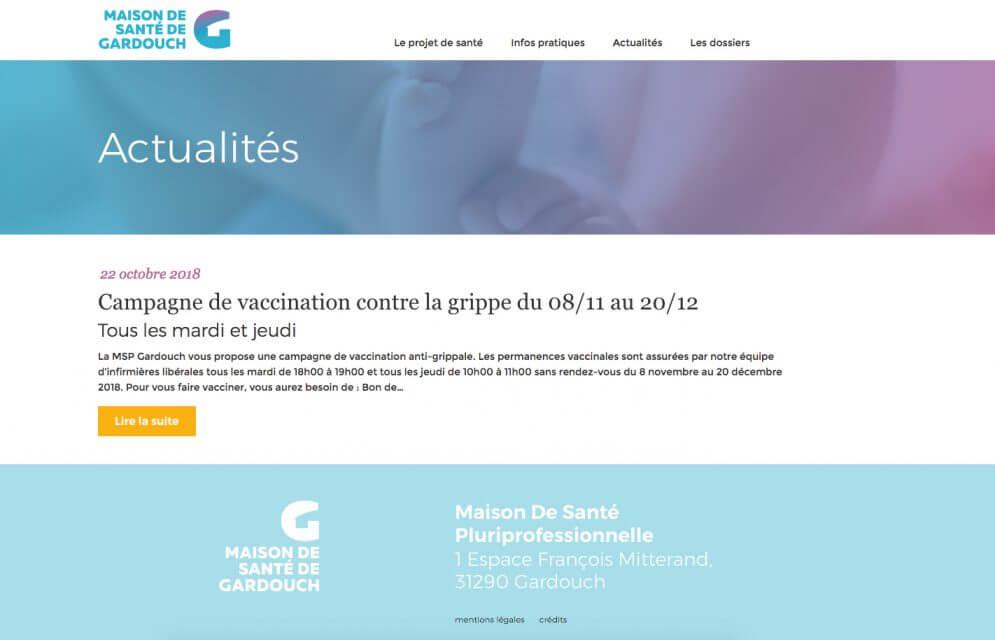 Actualités sur le site de la MSP Gardouch